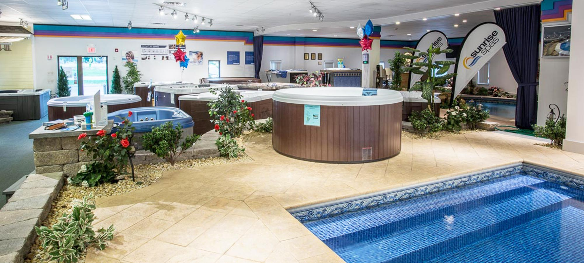 North Eastern Pool & Spa showroom inside
