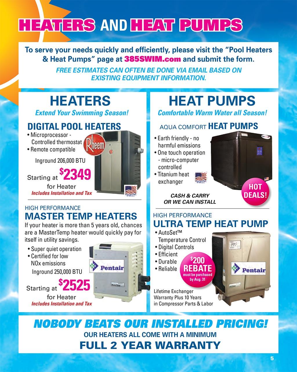 Pool Heaters & Heat Pumps - North Eastern Pools & Spas
